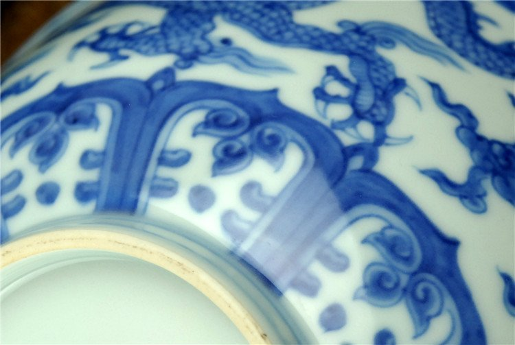 Fine Chinese Porcelain Blue & White Bowl - 6