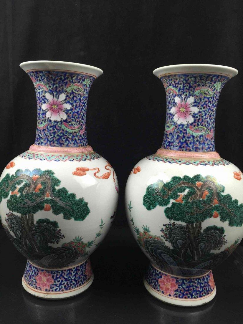 A Pari of Chinese Porcelain Vase