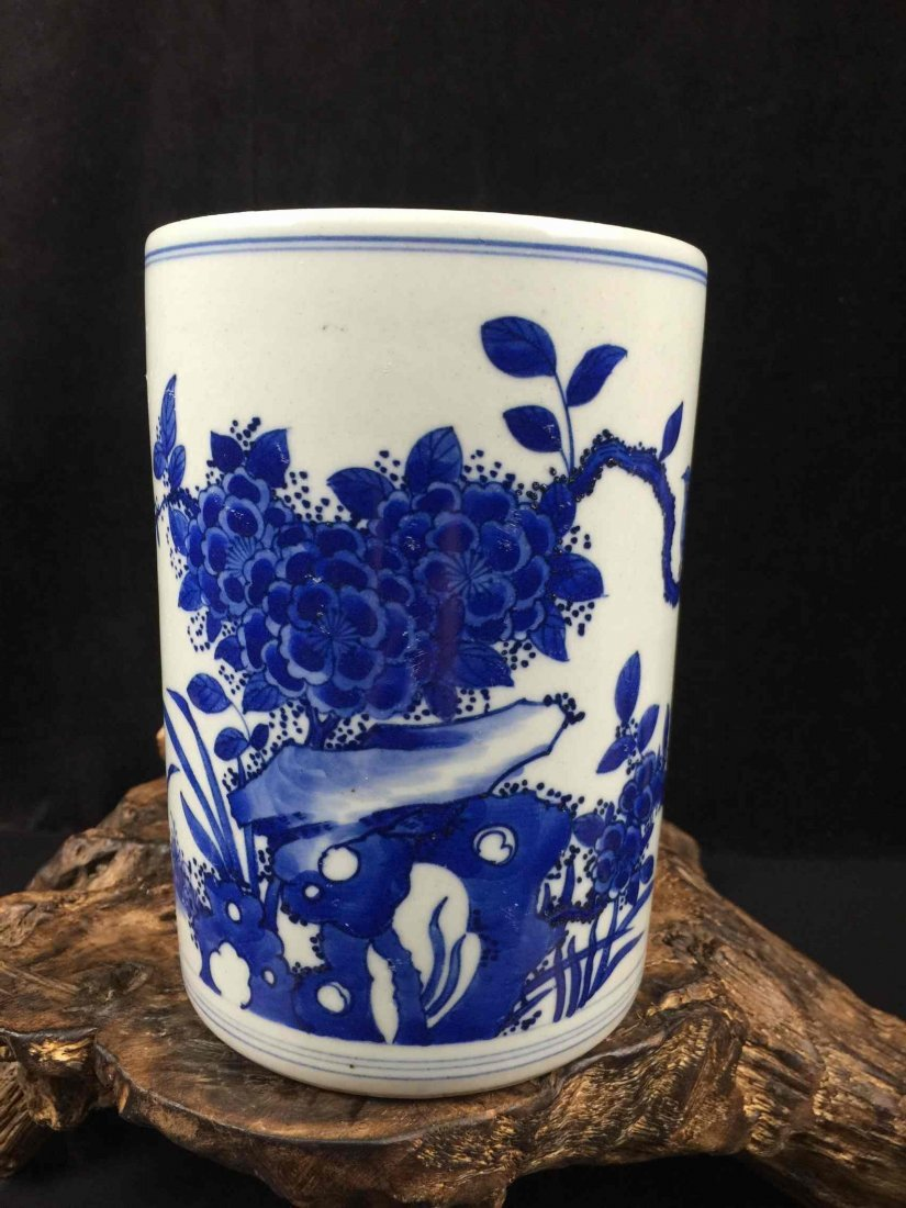 Chinese Fine Porcelain Blue & White Vase