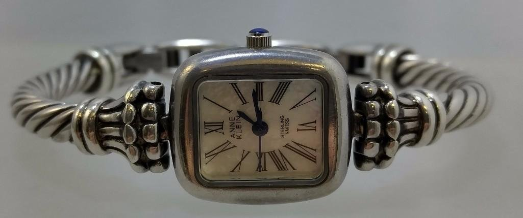 Sterling Silver Anne Klein ladies watch