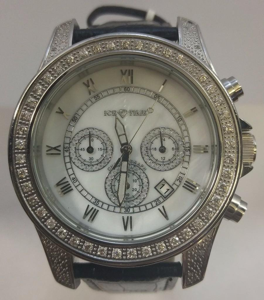 Mens Pre-Owned Ice Time Diamond Watch