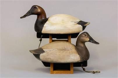 Jim Schmiedlin Pair of Canvasback Duck Decoys,