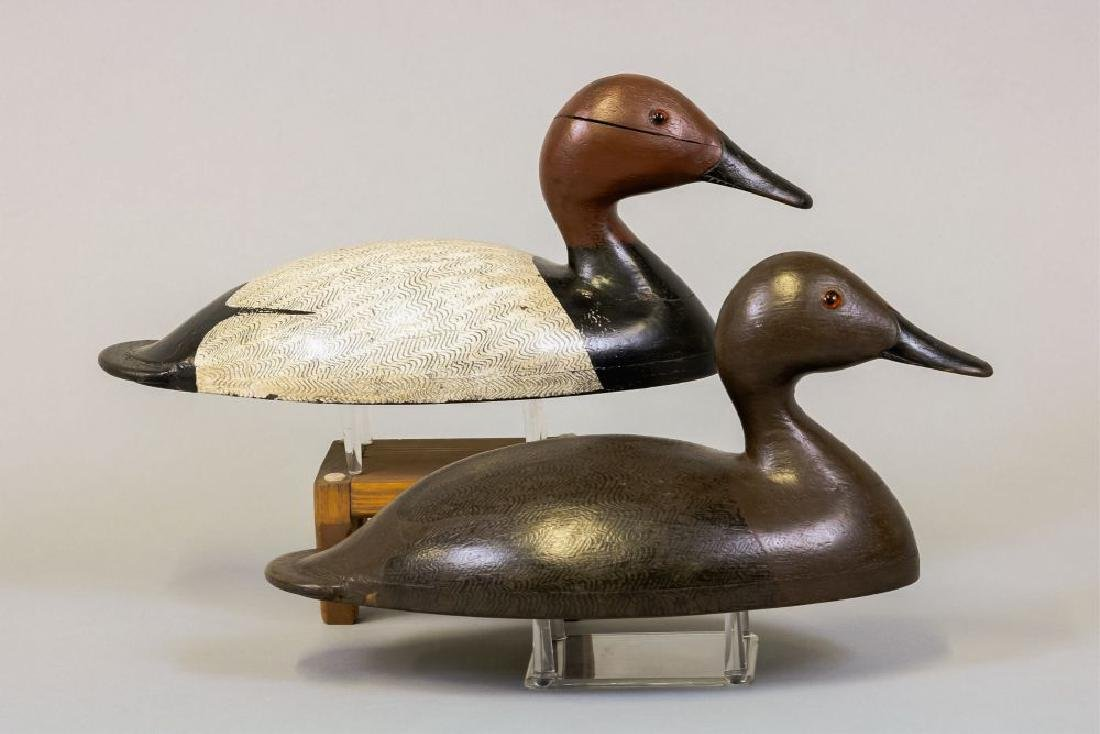 Pair of Canvasback Duck Decoys by Unknown Ontario - 4