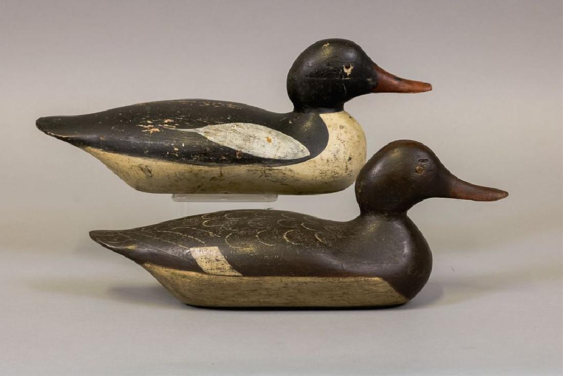 Mason Decoy Factory Pair of Merganser Duck - 4