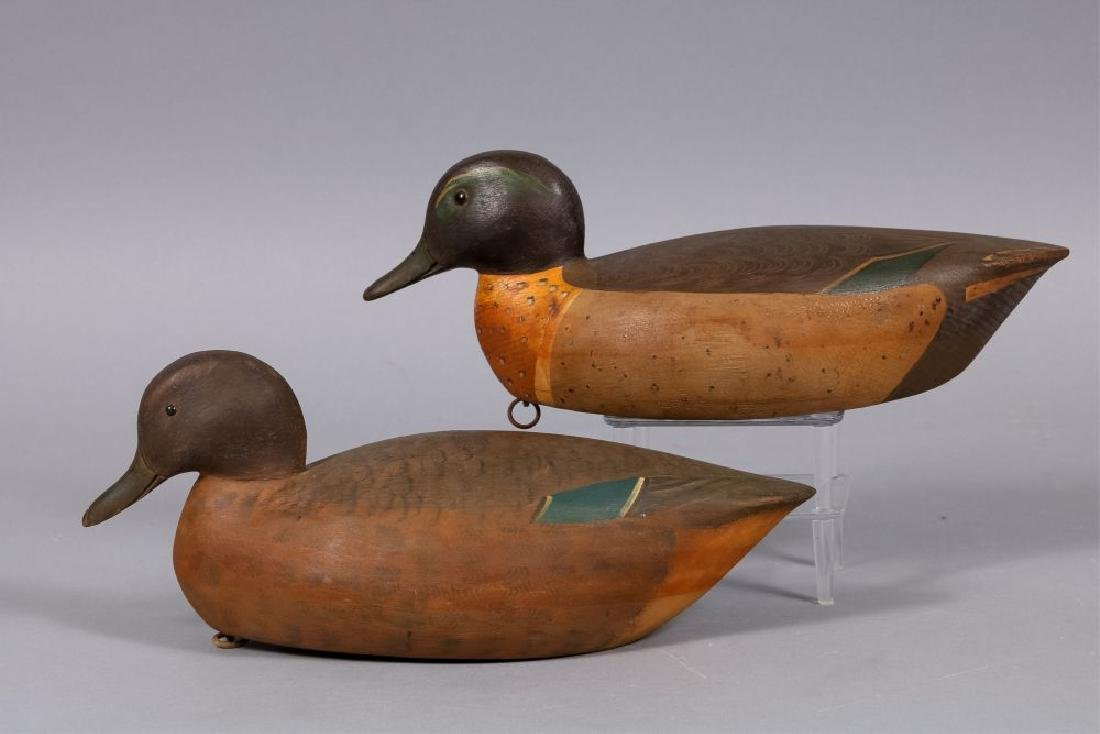 Mike Valley Pair of Green winged Teal Duck Decoys