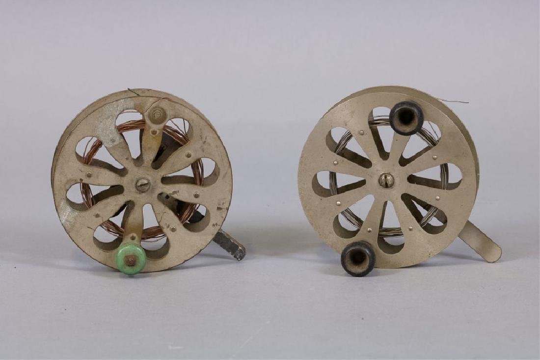Lot of 2 Early antique fishing reels