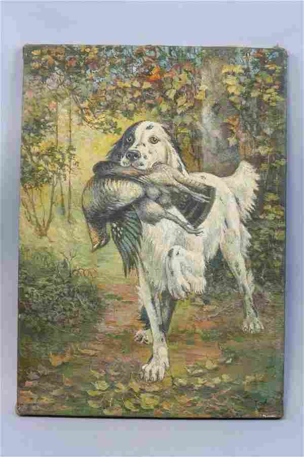 Early Original Oil Painting on Canvas by Falk,