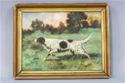 Early Original Framed Oil Painting on Canvas by