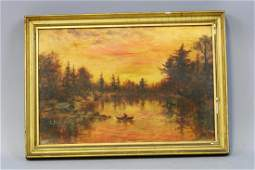 Framed Original Oil Painting on Canvas by JE.