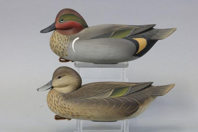 George Strunk pair of Green winged Teal Duck