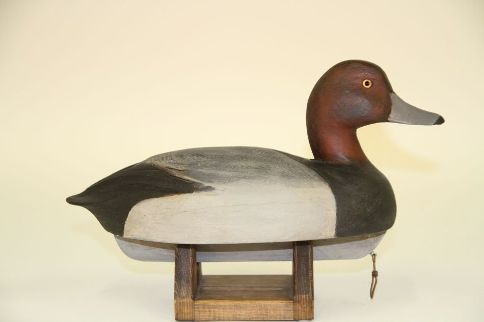 Redhead Drake Duck Decoy w/ Schmidt Influence, Solid