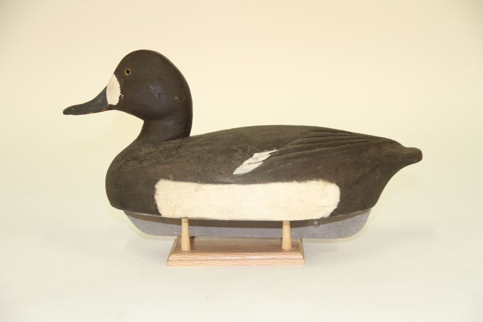 Bluebill Hen Duck Decoy w/ Schmidt Influence, Solid