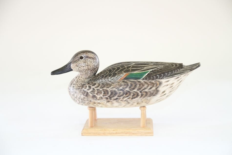 Green-winged Teal Hen Duck Decoy by Tom Beardsley of