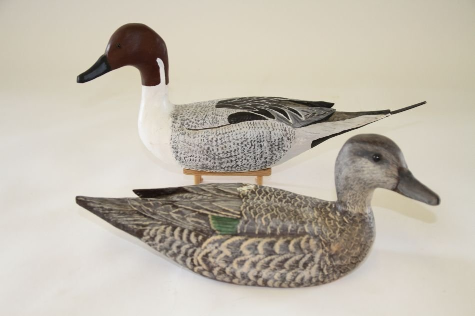 Pair of Hen and Drake Pintails by Wayne Boblenz of