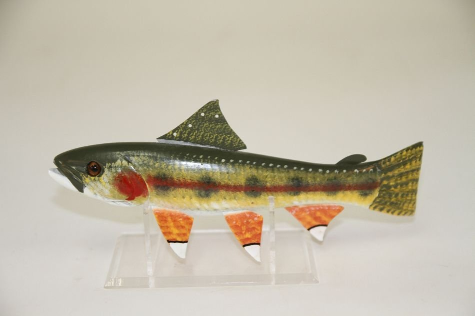 "9"" Golden Trout Fish Spearing Decoy by Carl"