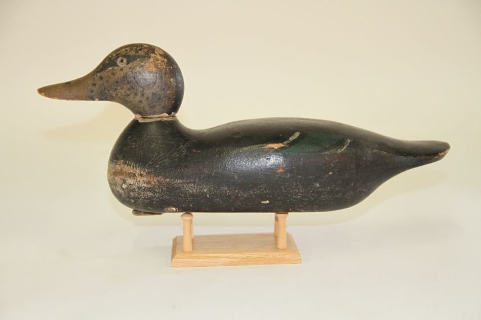 Black Duck Decoy by Mason Decoy Factory of Detroit, MI,