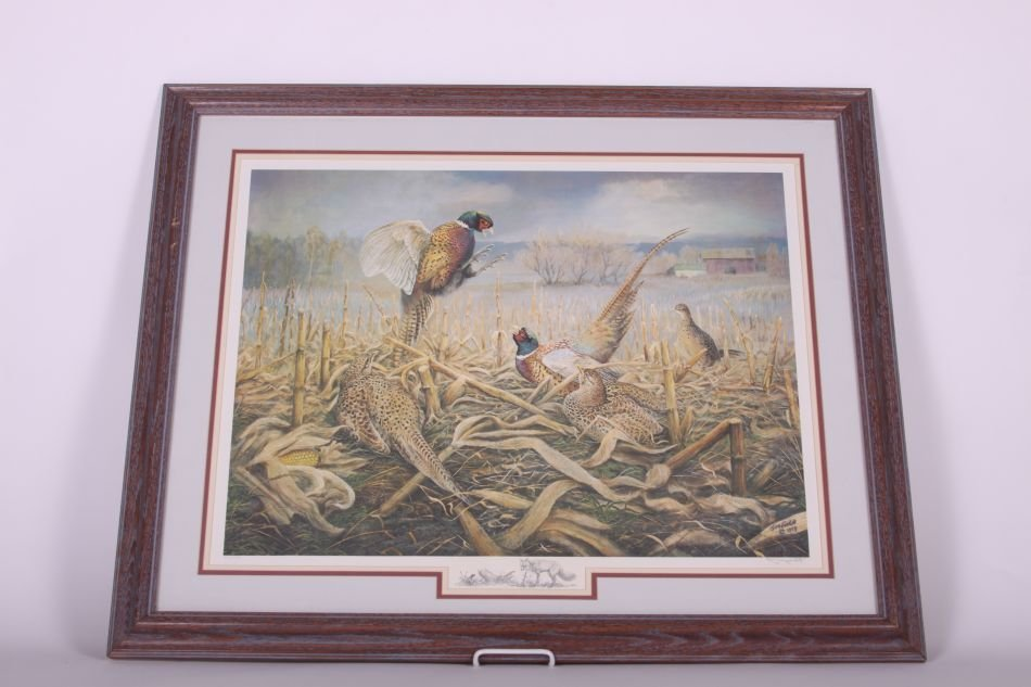 Framed and Matted Print by Jim Foote of Gibraltar, MI,