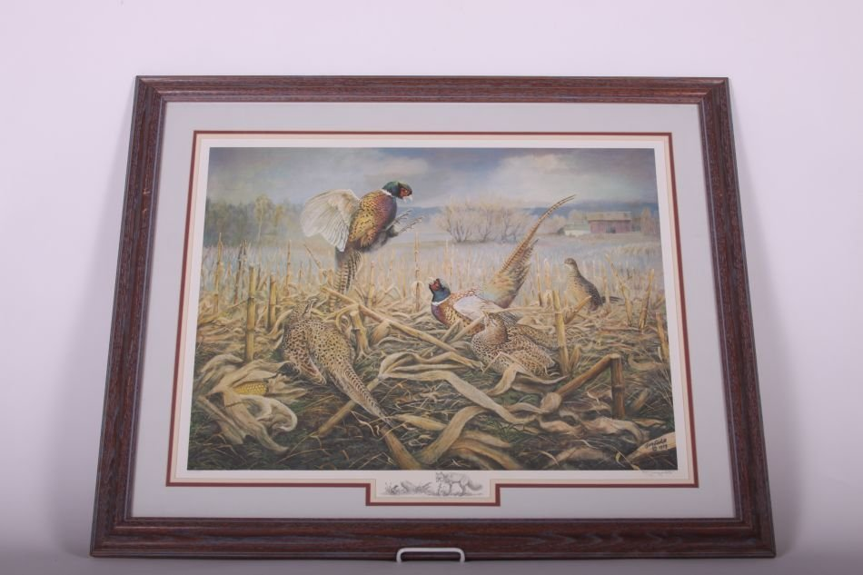 Framed and Matted Print by Jim Foote of Gibraltar, MI, - 2
