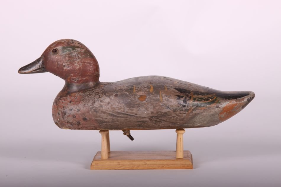 Rare Green-winged Teal Drake Duck Decoy by Dodge