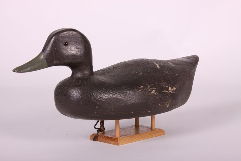 Black Duck Decoy by Fred Kressbach of Monroe, MI, Solid - 2