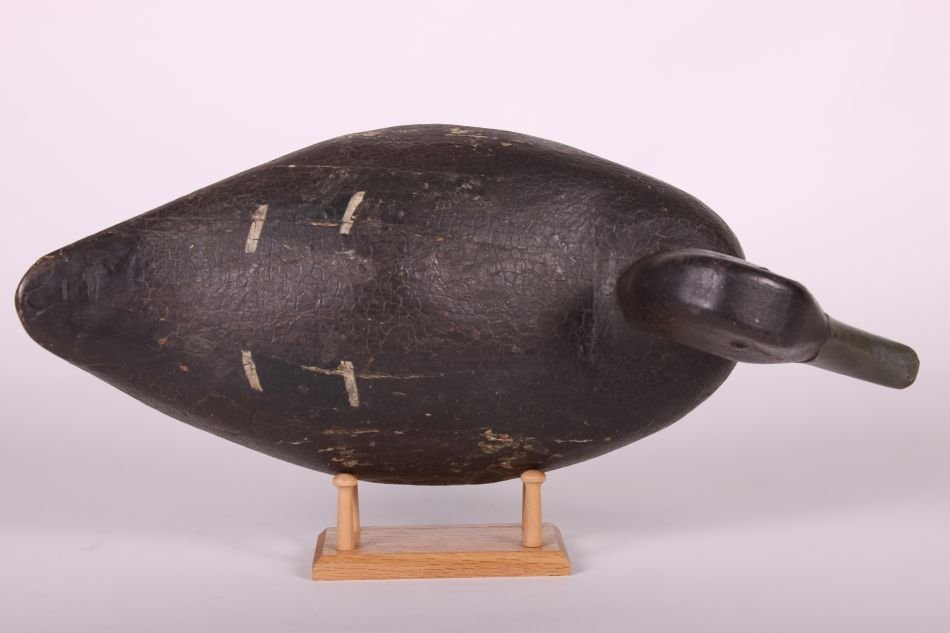 Black Duck Decoy by Fred Kressbach of Monroe, MI, Solid - 5
