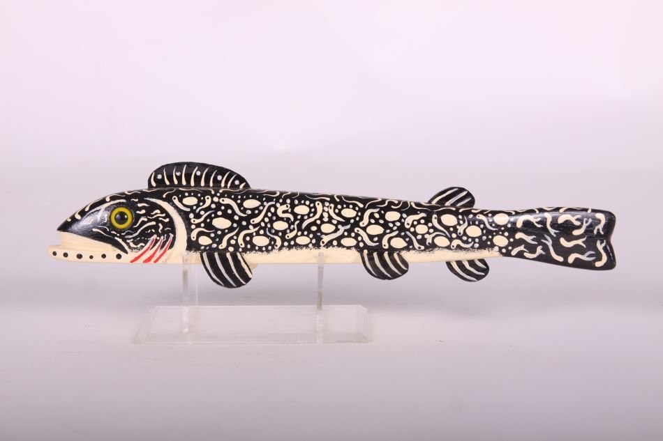 "12"" Trout Fish Spearing Decoy by Leonard ""Sven"" Nelson"