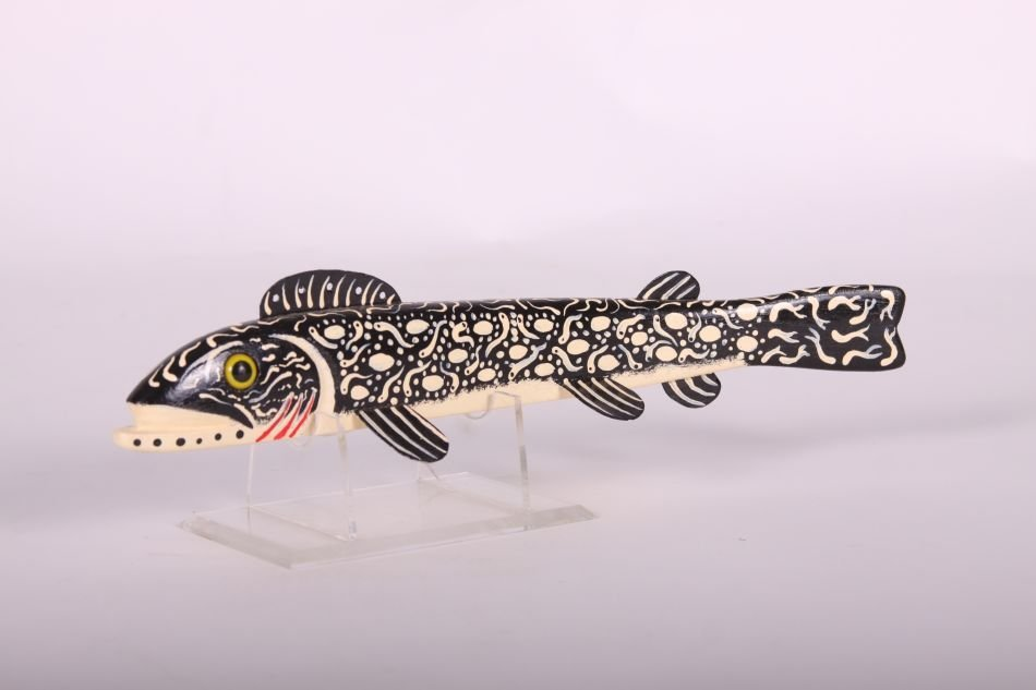 "12"" Trout Fish Spearing Decoy by Leonard ""Sven"" Nelson - 2"