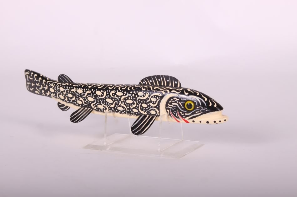 "12"" Trout Fish Spearing Decoy by Leonard ""Sven"" Nelson - 3"