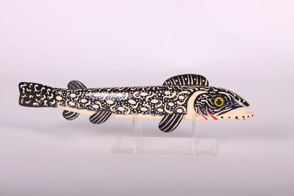 "12"" Trout Fish Spearing Decoy by Leonard ""Sven"" Nelson - 4"