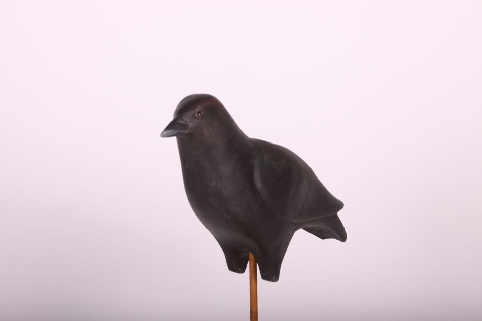 Crow Decoy by Dr. Lou Petrucco of Grosse Ile, MI, Solid - 3