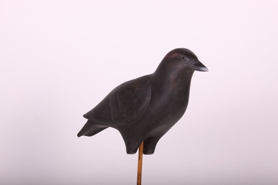 Crow Decoy by Dr. Lou Petrucco of Grosse Ile, MI, Solid - 4