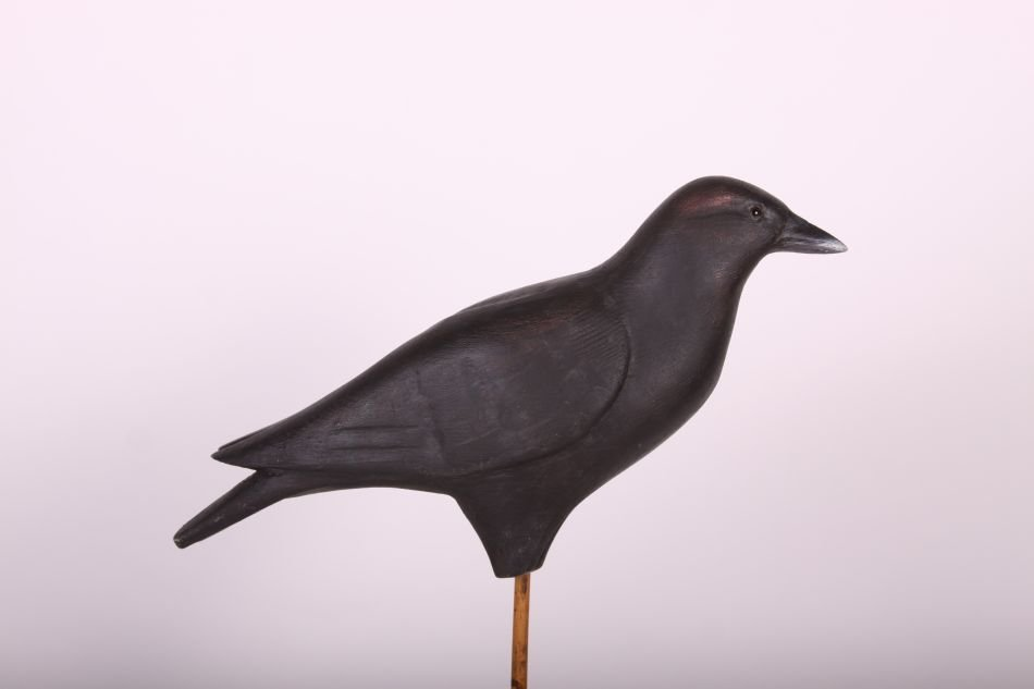 Crow Decoy by Dr. Lou Petrucco of Grosse Ile, MI, Solid - 5