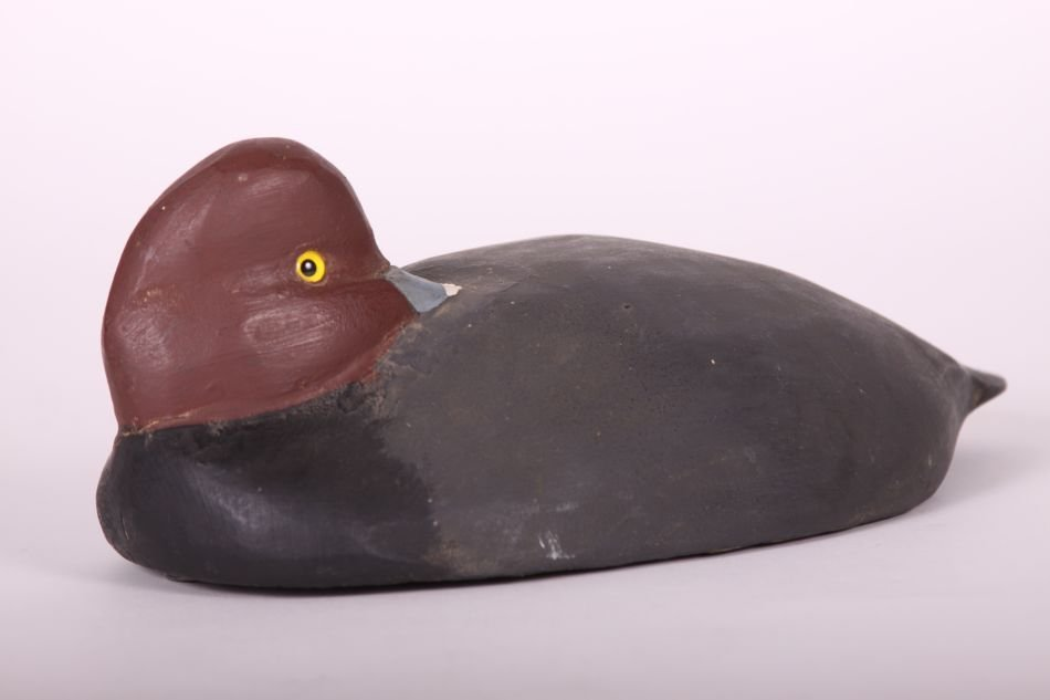 Redhead Drake Duck Decoy by Tom Humberstone of New - 2