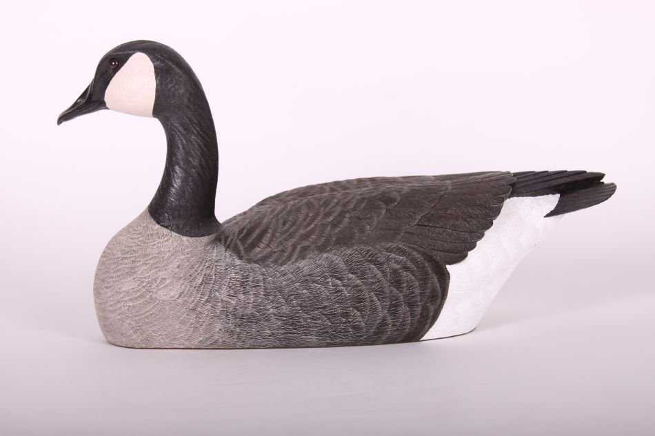 Canada Goose Decoy by Chris Tostenson, Hollow Body,