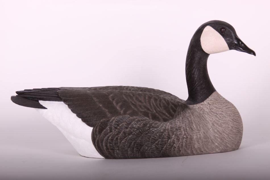Canada Goose Decoy by Chris Tostenson, Hollow Body, - 4