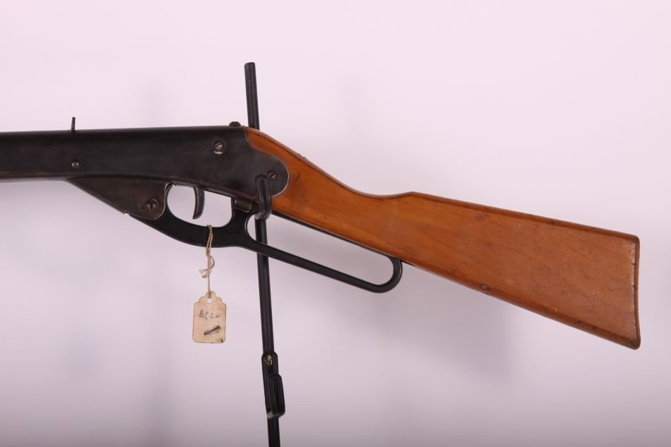Daisy, Mdl 155, BB Gun, Lever Action, Wood Stock,Pat - 2