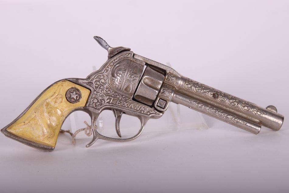 Pr of Hubley, Cast Iron, Texan Cap Guns, Cast Iron, w/ - 6