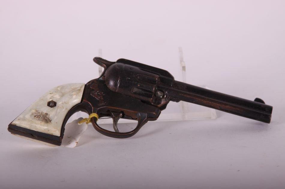 Pr of Kenton, Cast Iron, Gene Autry Cap Guns, White - 4