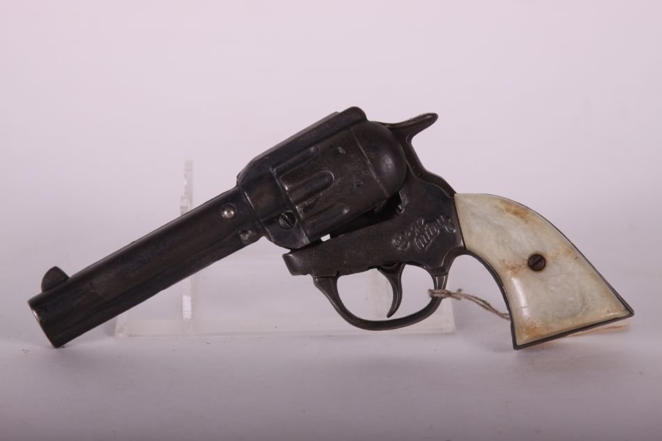 Pr of Kenton, Cast Iron, Gene Autry Cap Guns, White - 5