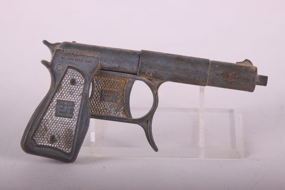No. 504 Die Cast Spud Gun by EJ Cossman and Co., - 2