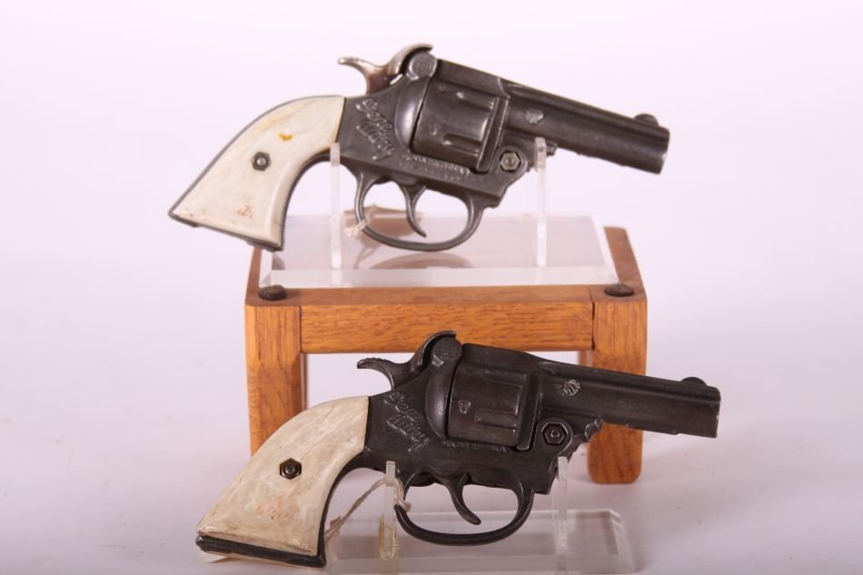 "Pr. Of Kenton Cast Iron Cap Guns, ""Gene Autry"" w /White - 2"