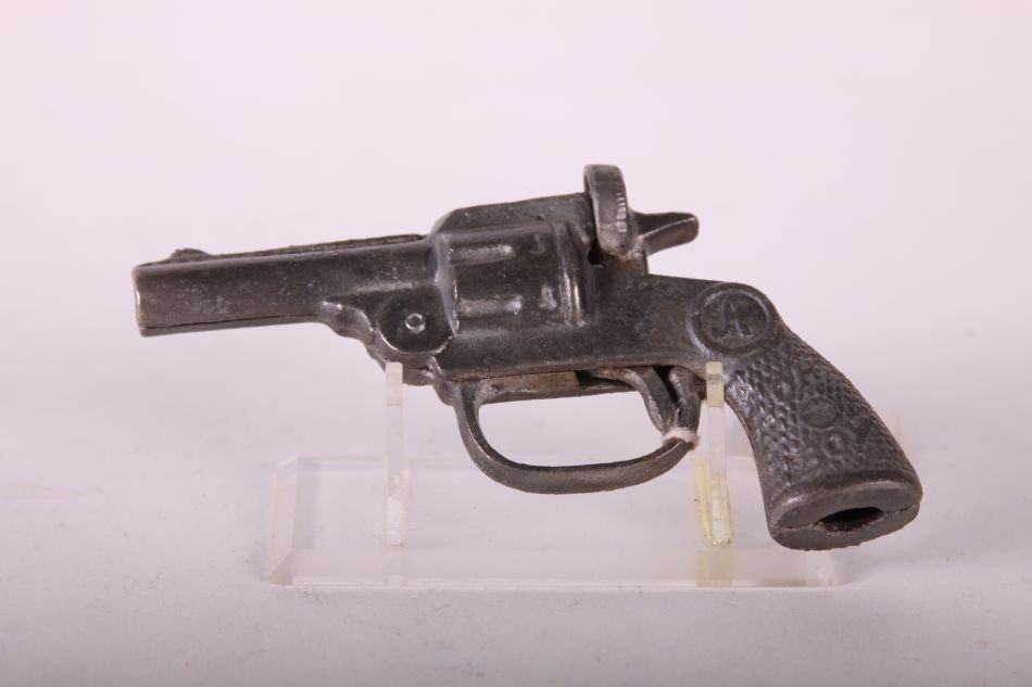 Andes, Oh-Boy, Cap Pistol, Cast Iron, w/ Single Holster - 2