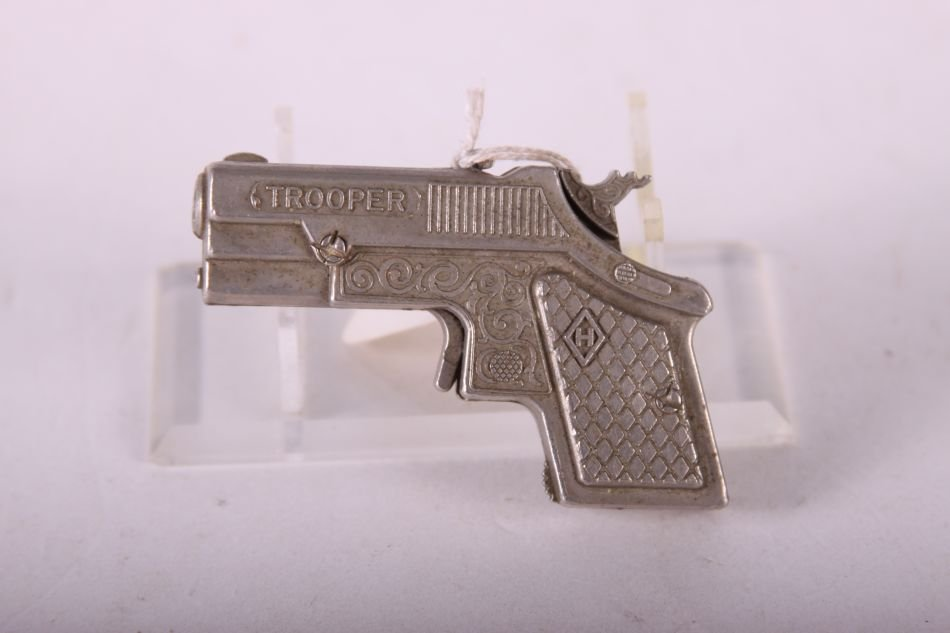 Hubley Trooper Derringer Cap Gun, Die Cast