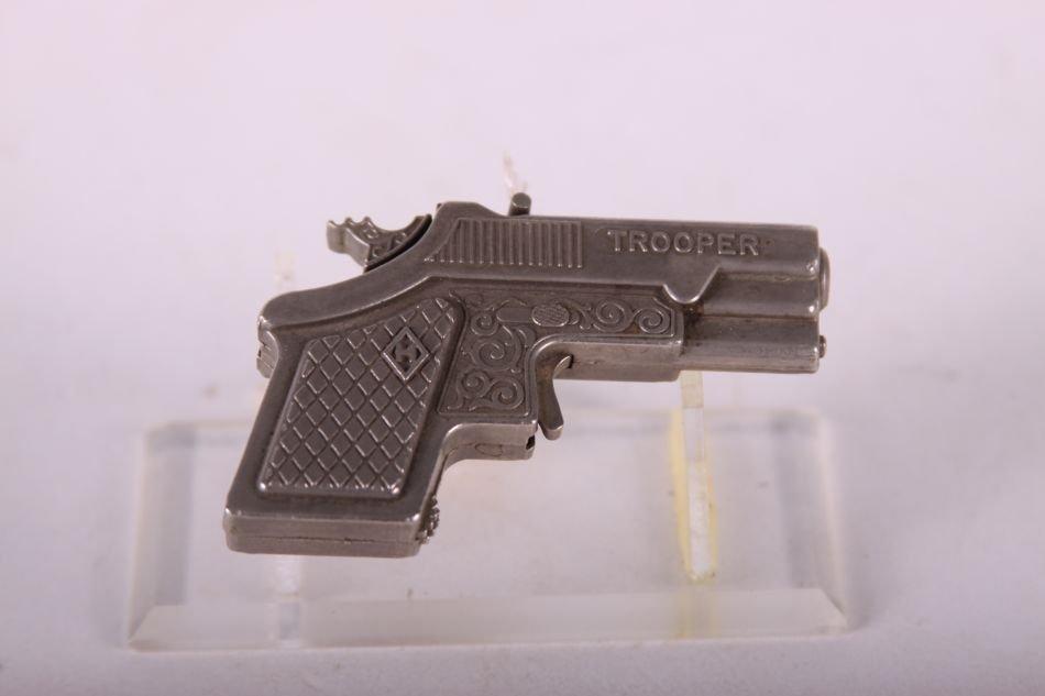 Hubley Trooper Derringer Cap Gun, Die Cast - 2