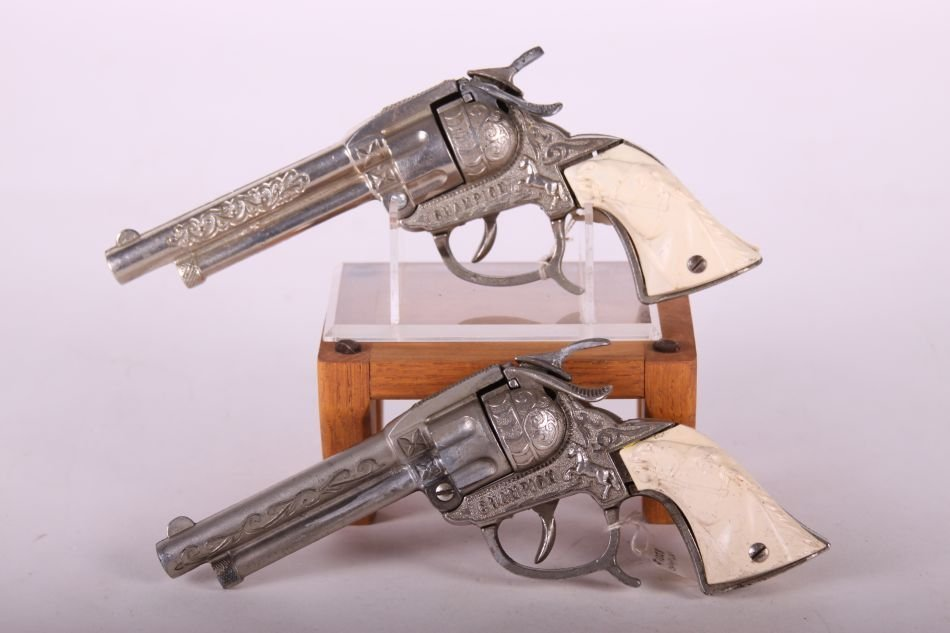 Pr. Of Leslie Henry, Die Cast, Champion Cap Guns, w/