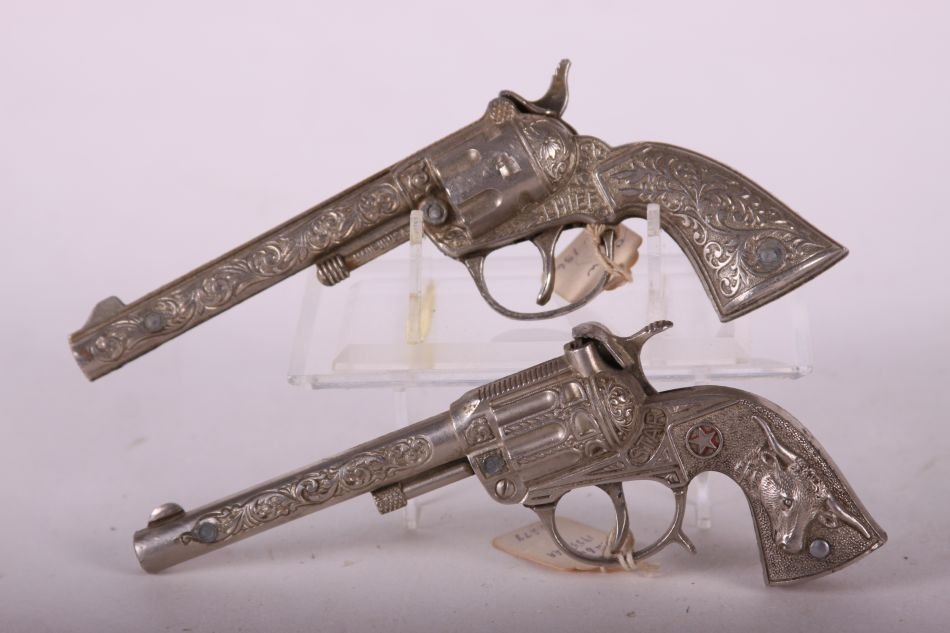 Lot of Two Cap Guns, One Hubley Star, Die Cast, w/