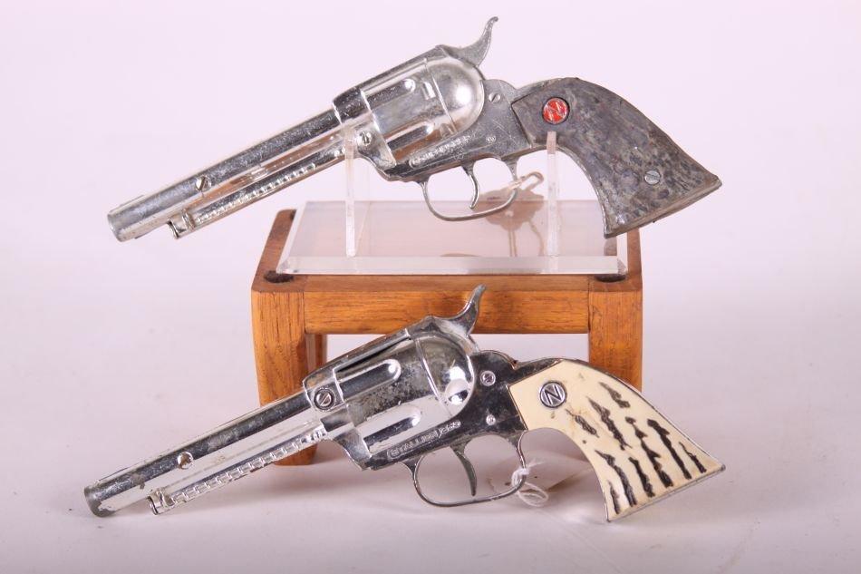 Pr. Of Nichols Cap Guns, Die Cast, One Stallion 250 w/ - 2