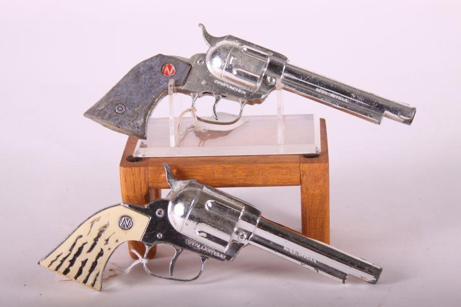 Pr. Of Nichols Cap Guns, Die Cast, One Stallion 250 w/ - 3