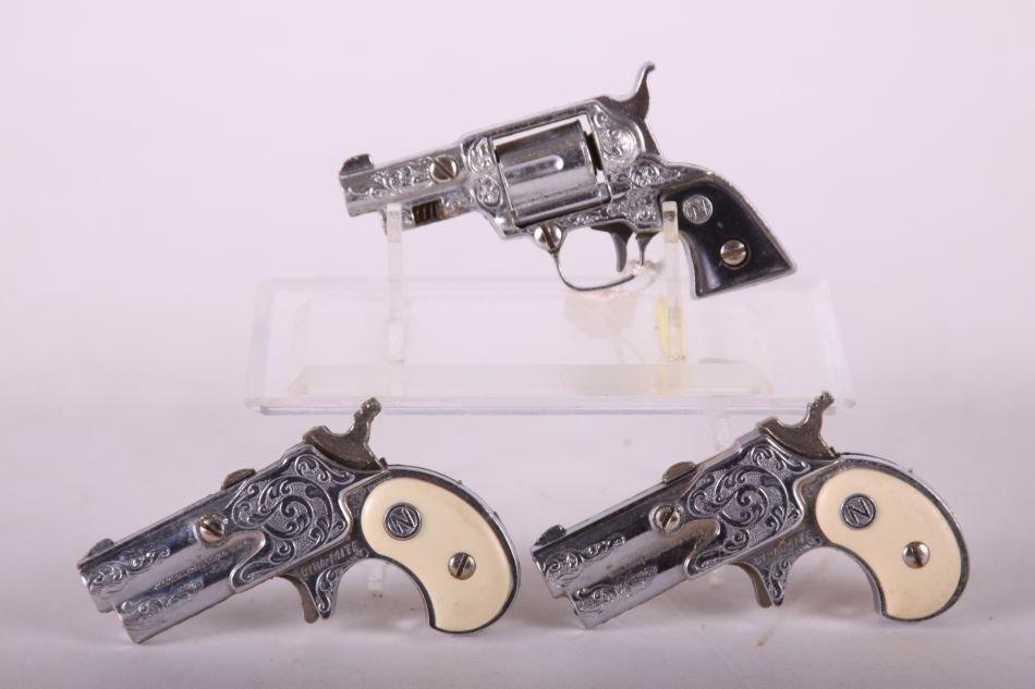 Lot of Three Nichols Cap Guns, Two Dyna-Mite w/ White