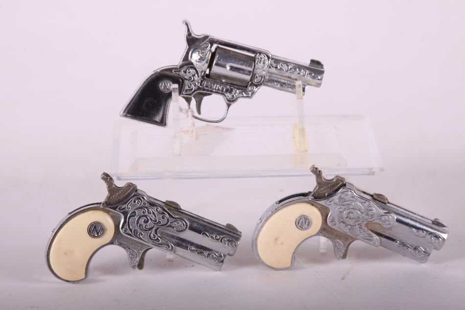 Lot of Three Nichols Cap Guns, Two Dyna-Mite w/ White - 2